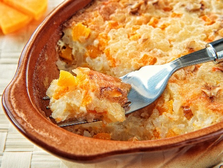 Оризов десерт пудинг с тиква, сирене маскарпоне и канела - снимка на рецептата